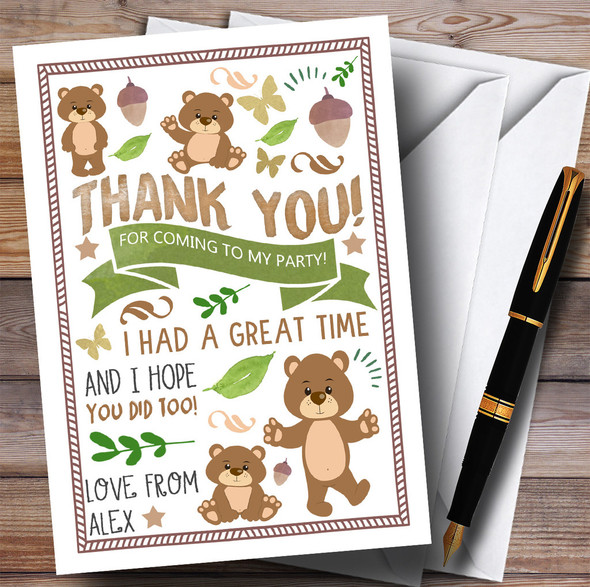 Teddy Bears Picnic Party Thank You Cards