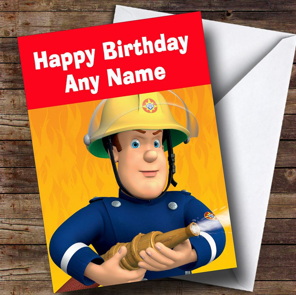 Fireman Sam  Personalised Children's Birthday Card