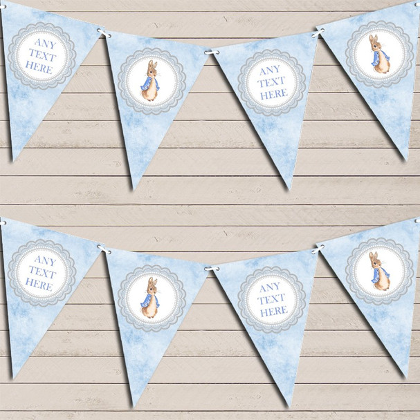 Baby Blue Peter Rabbit Personalised Children's Birthday Bunting