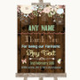 Rustic Floral Wood Thank You Bridesmaid Page Boy Best Man Wedding Sign