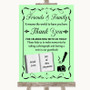 Green Photo Guestbook Friends & Family Personalised Wedding Sign
