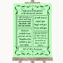 Green Romantic Vows Personalised Wedding Sign