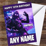 Fortnite The Raven Personalised Children's Birthday Card