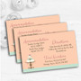 Classical Cake Personalised Wedding Guest Information Cards