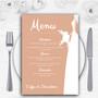 Peach Bride Personalised Wedding Menu Cards