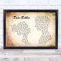 Yellowcard Dear Bobbie Man Lady Couple Song Lyric Print