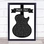 Tracy Chapman Fast Car Black & White Guitar Song Lyric Print