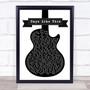 Van Morrison Days Like This Black & White Guitar Song Lyric Print