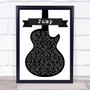 Van Halen Jump Black & White Guitar Song Lyric Print