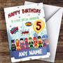 Personalised Boys Birthday Card Superhero 1St 2Nd 3Rd 4Th 5Th 6Th Grandson