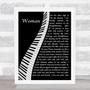 John Lennon Woman Piano Song Lyric Quote Music Print