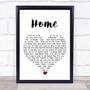 Phillip Phillips Home White Heart Song Lyric Quote Music Print