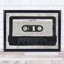Any Song Lyrics Custom Music Script Cassette Tape Song Lyric Print