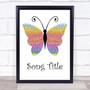 Any Song Custom Rainbow Butterfly Personalised Lyrics Print