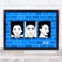 Black Lives Matter Wall Blue Wall Art Print