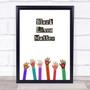 Black Lives Matter hands Of Love Equality Matters Wall Art Print