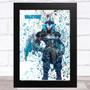 Splatter Art Gaming Fortnite Valkyrie Kid's Room Children's Wall Art Print