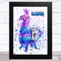 Splatter Art Gaming Fortnite Llama Kid's Room Children's Wall Art Print