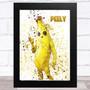Splatter Art Gaming Fortnite Peely Kid's Room Children's Wall Art Print