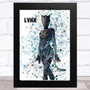Splatter Art Gaming Fortnite Lynx Kid's Room Children's Wall Art Print