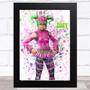 Splatter Art Gaming Fortnite Zoey Kid's Room Children's Wall Art Print
