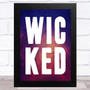 Wicked Purple Watercolour Statement Wall Art Print