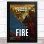 I Am The God Of Hell Fire Music Fan Song Lyric Wall Art Print