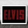 Elvis Neon Sign Music Fan Song Lyric Wall Art Print