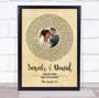 Vintage Vinyl Record Wedding First Dance Photo Any Song Lyric Wall Art Print