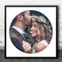 Square Vinyl Record Wedding Photo White Any Song Lyric Wall Art Print