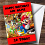 Personalised Red Super Mario Children's Birthday Card