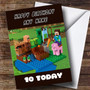 Personalised Lego Minecraft Children's Birthday Card
