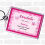 Annabelle Name Meaning Bag Tag Keychain Keyring  Pink