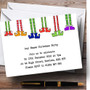 Funny Elf Legs Personalised Christmas Party Invitations