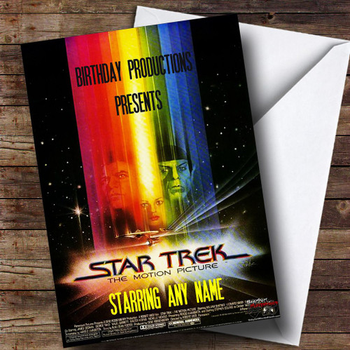 Spoof Star Trek Film Poster Funny Personalised Birthday