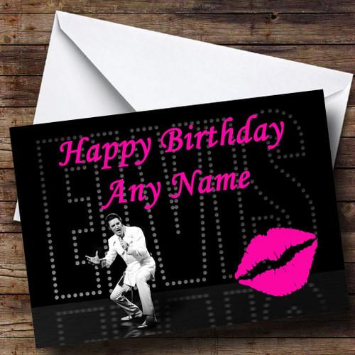 Elvis Presley Personalised Birthday Card