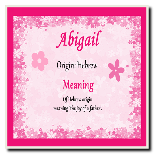 Abigail Personalised Name Meaning Coaster