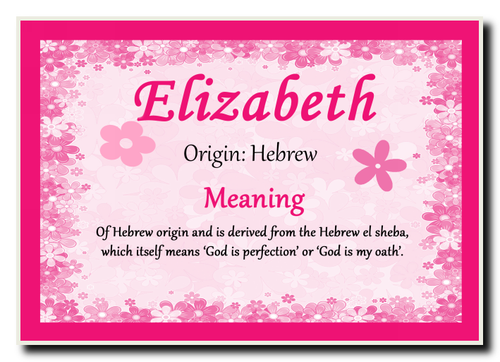 what does the name elizabeth mean