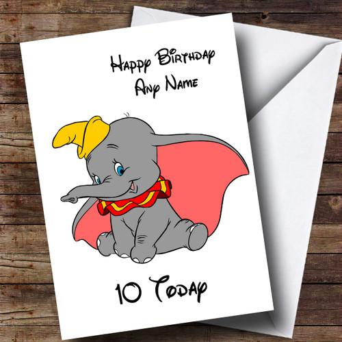 Personalised White Disney Dumbo Children's Birthday Card