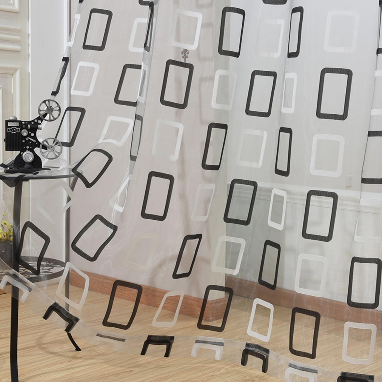 Dolce Mela Modern Sheer Curtain Panels - Prague DMC470