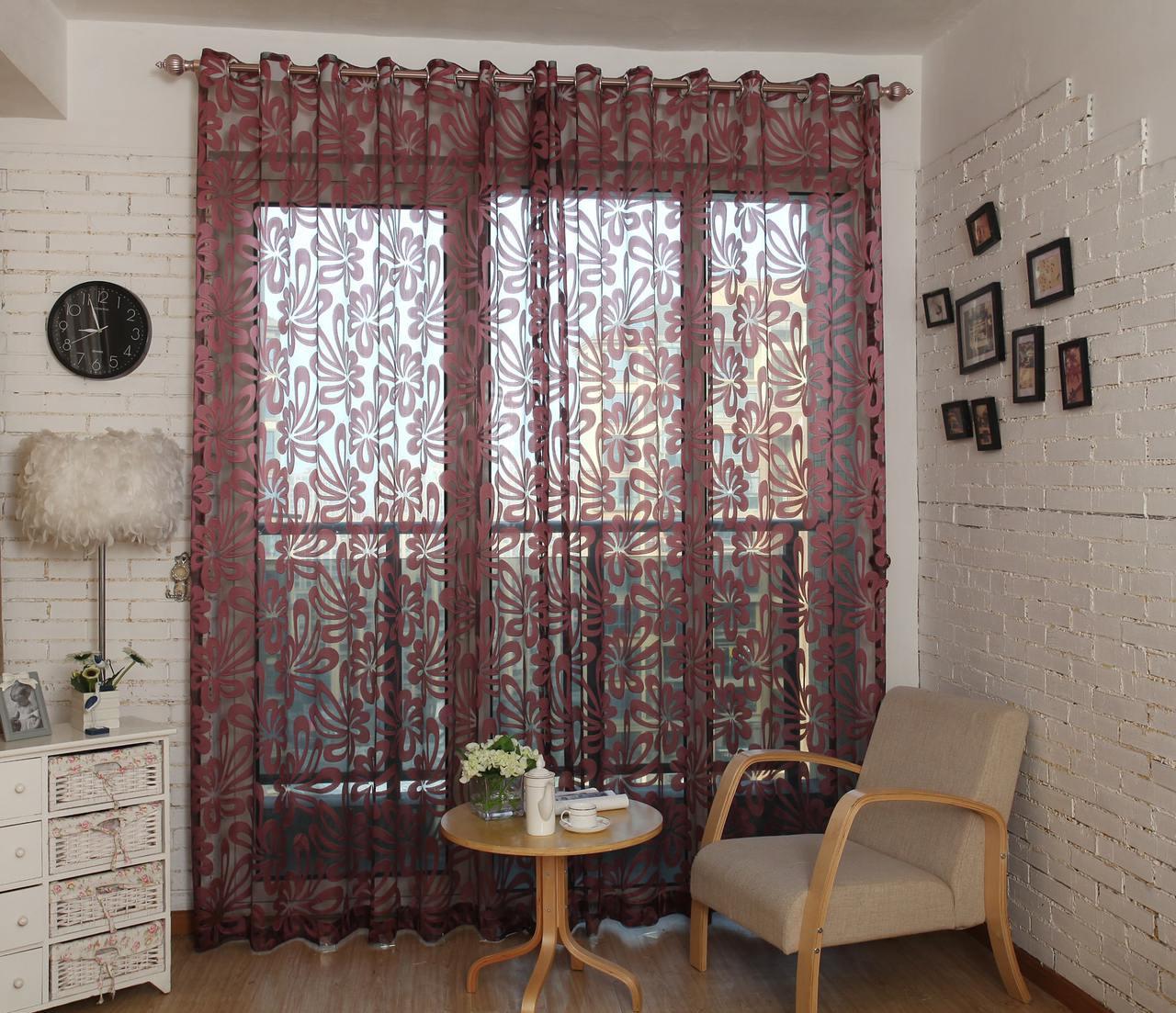 Dolce Mela Sheer Curtain Panels DMC472