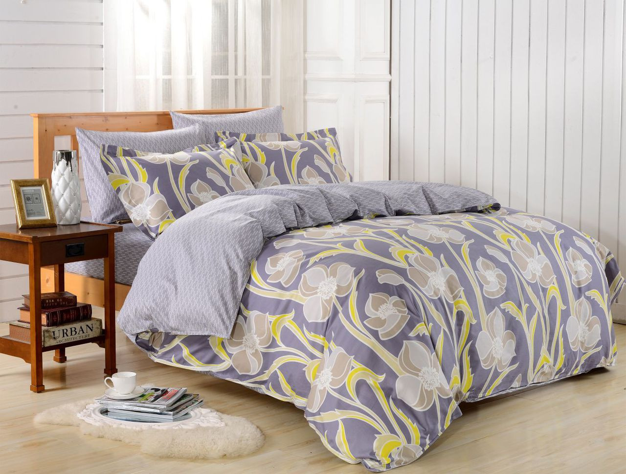 DM612Q Duvet Cover  Set, Dolce Mela Nafplio Bedding