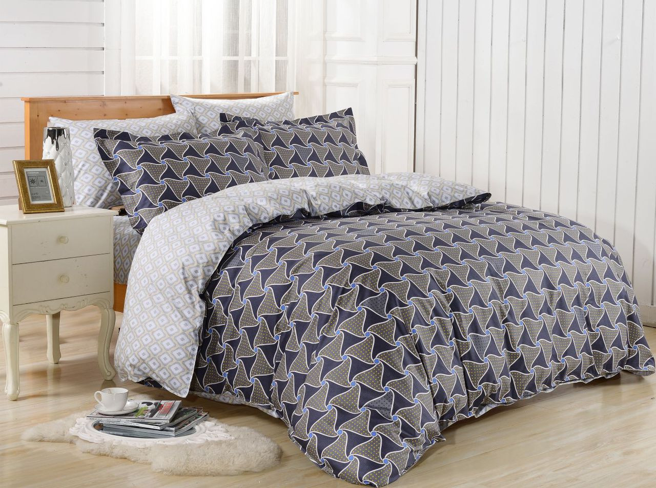 DM630Q Duvet Cover  Set, Dolce Mela Epidavros Bedding