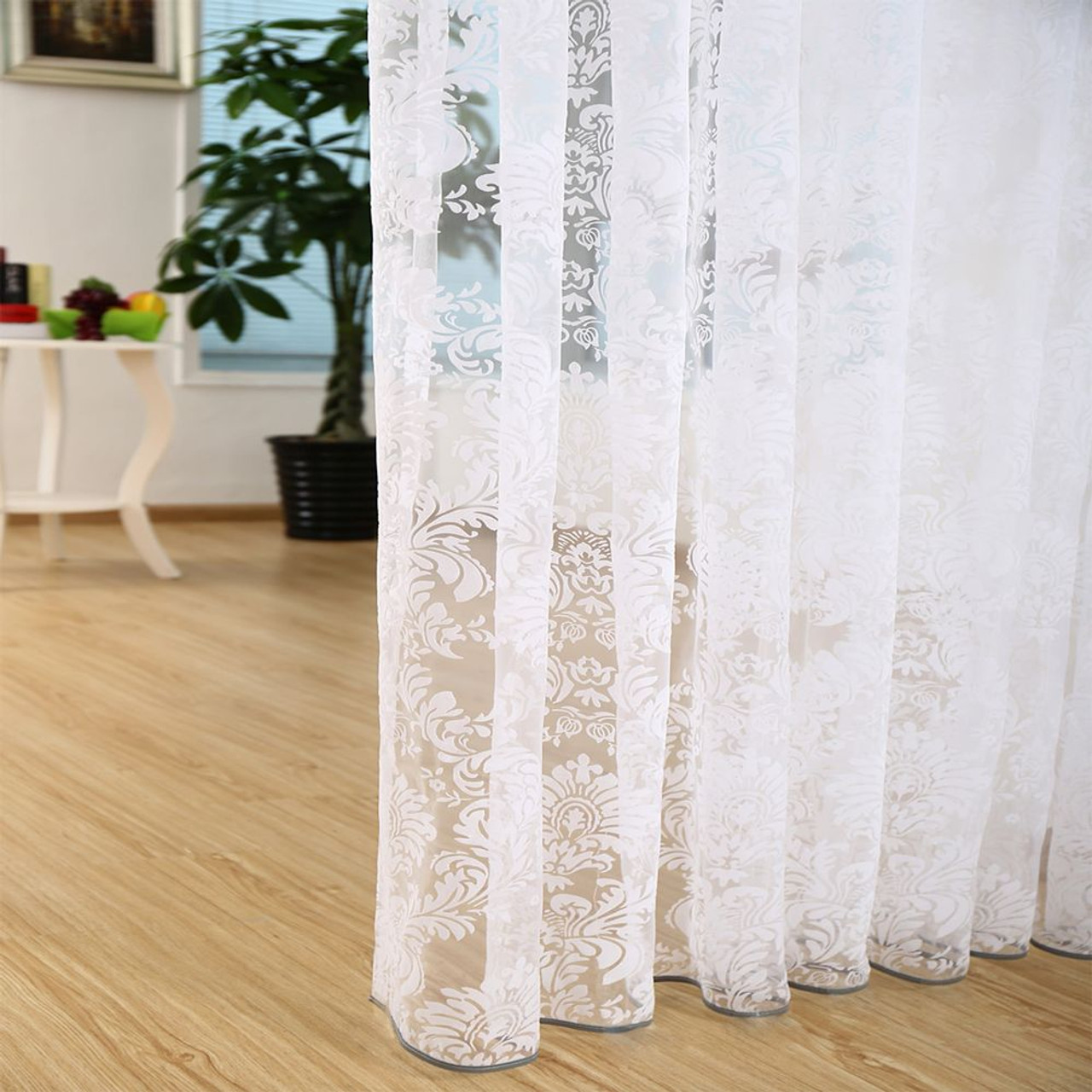 Sheer Curtain Panels - Patras DMC481