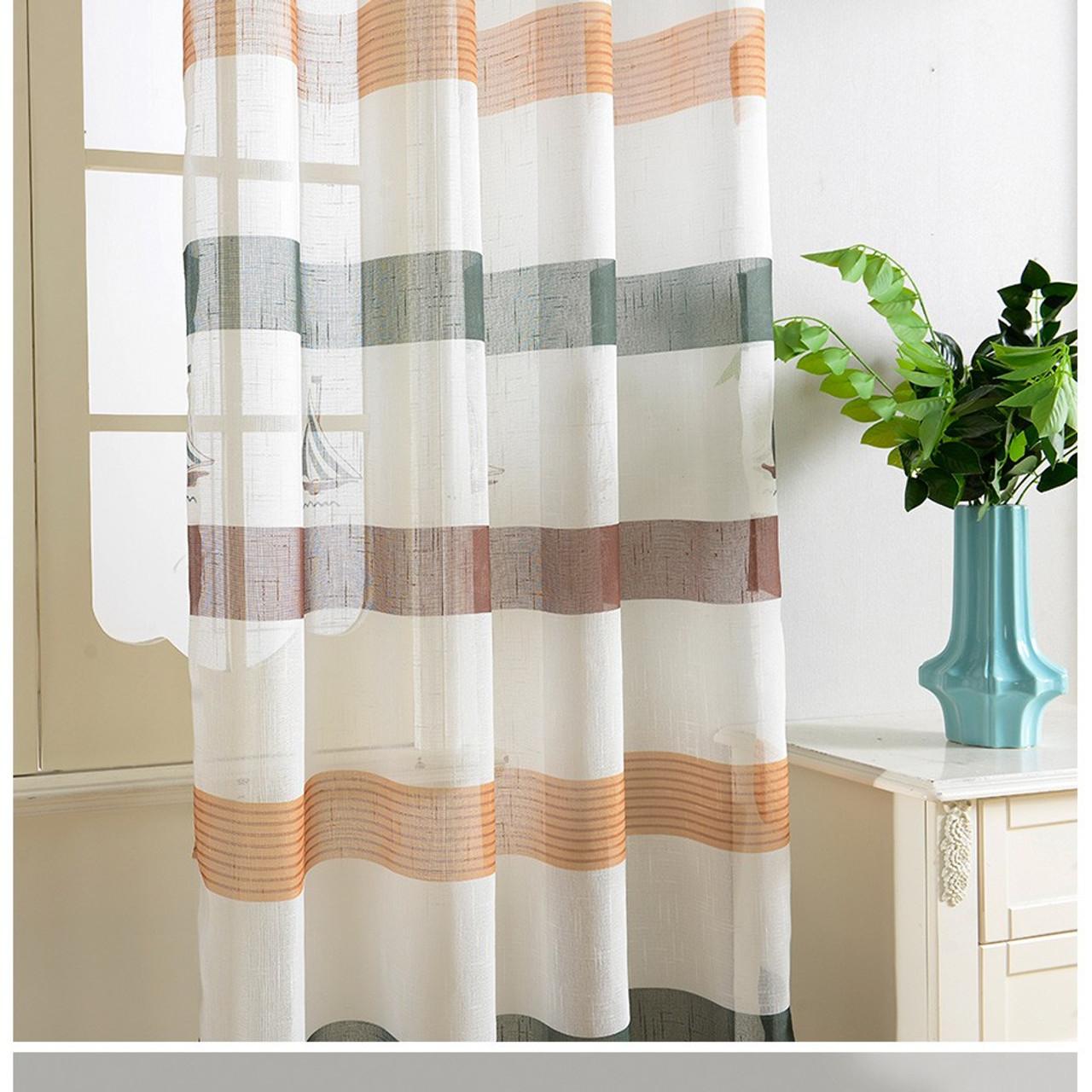 Dolce Mela Sheer Curtain Panels - Bermuda - DMC486