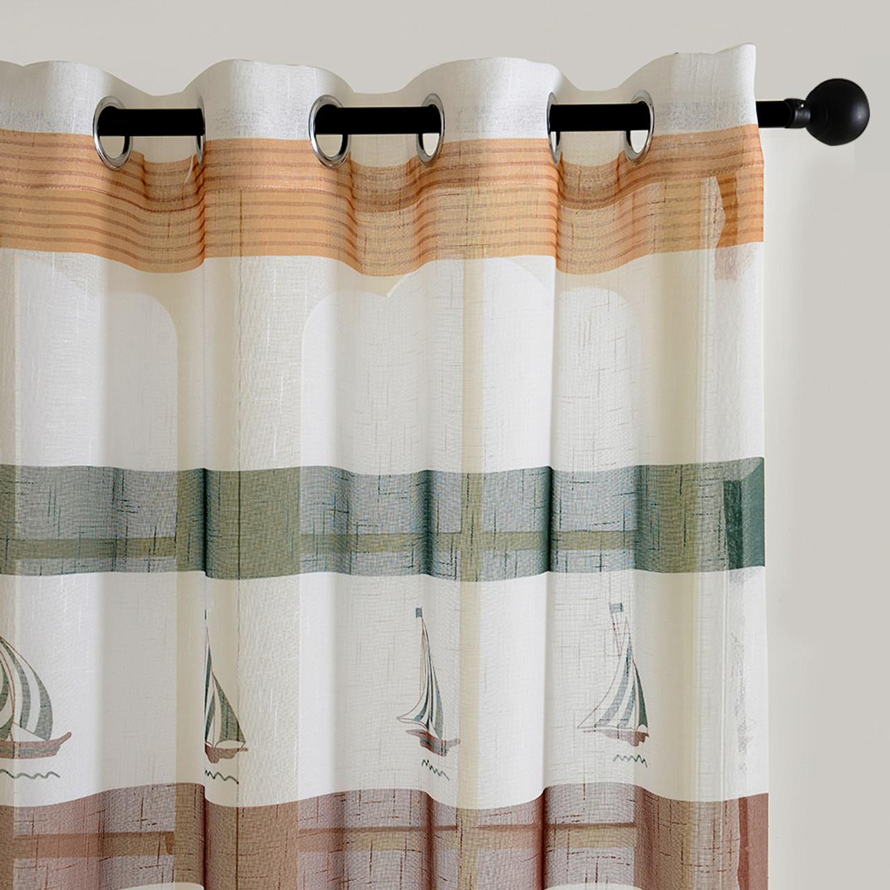 Bermuda - DMC486 - Dolce Mela Sheer Curtain Panels