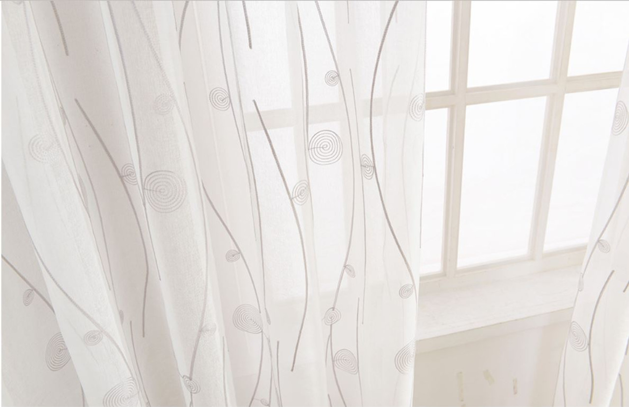 Naples Sheer Curtain Panels DMC488 Dolce Mela