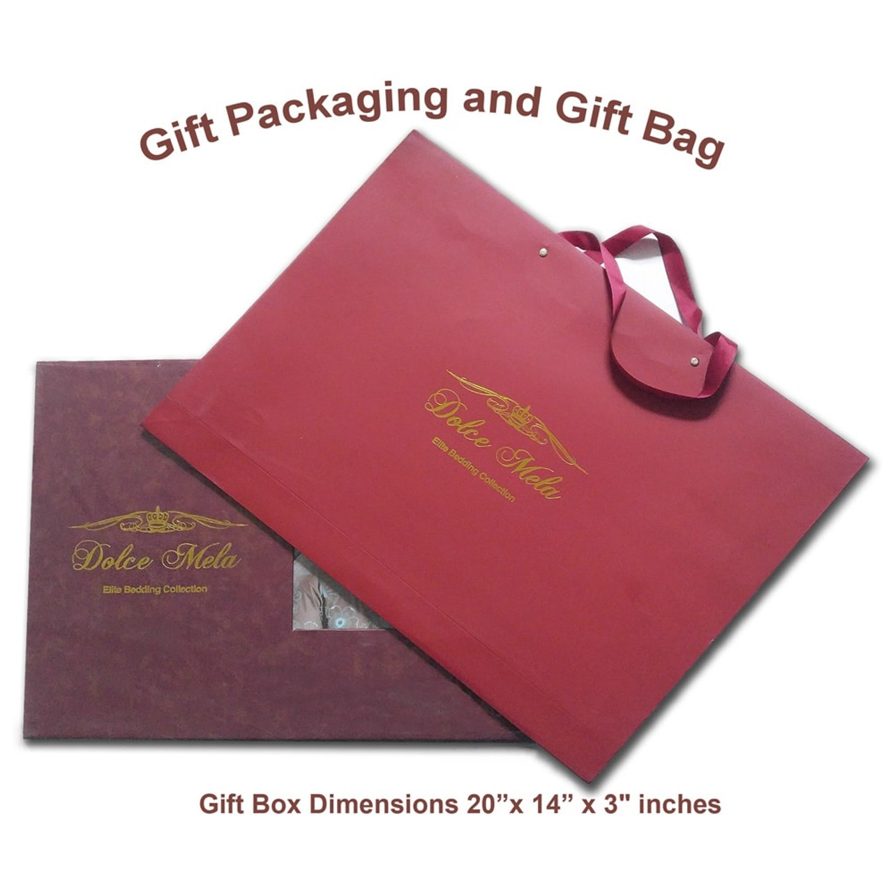 DM504K Dolce Mela Bedding - Ancona, Luxury Jacquard King size Duvet Cover Set