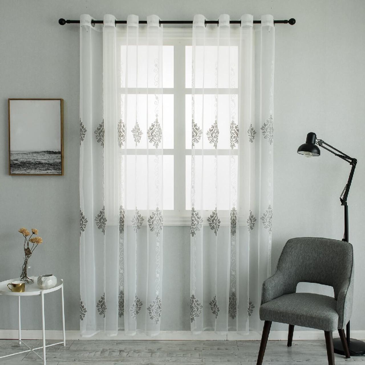 White Sheer Curtain Panels - Dolce mela - Nexus - DMC721