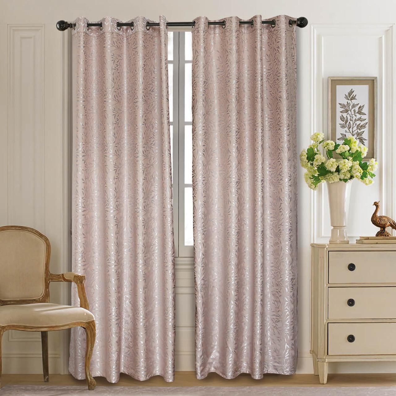 Curtain Panel Semi-Blackout Drapes, DMC713 Dolce Mela Olympia Window Treatments